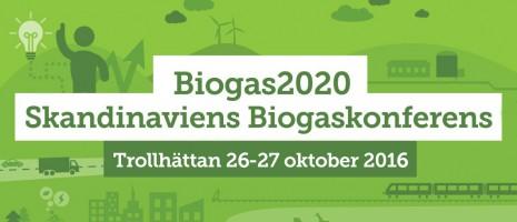 Biogas2020 Skandinaviens Biogaskonferens 2016