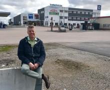 Ny biogasstation för lastbilar byggs vid Trestad center