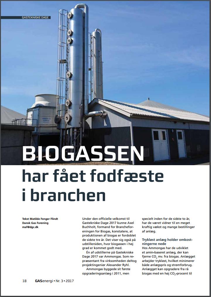 Biogasen har fått fotfäste i branchen