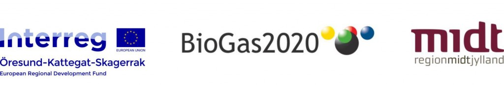 Logo Biogas2020 Interreg ØKS Region Midt VANDRET